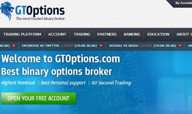 G binary options brokers