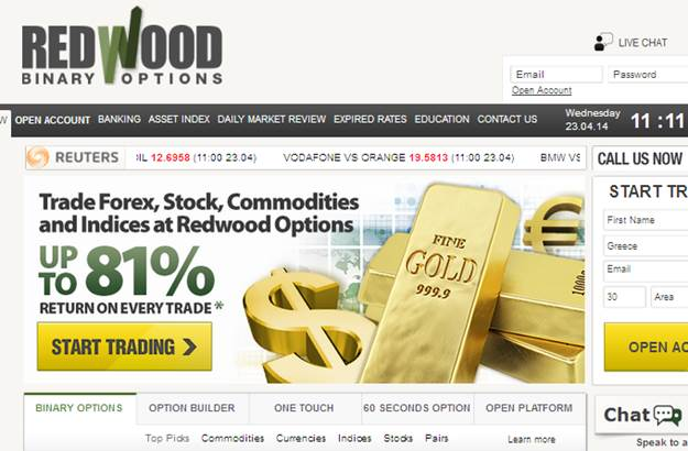 Redwood binary options broker